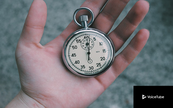 productivity timer in man's hand